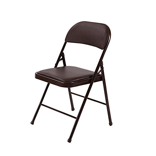 Folding chairs Thicken Home Stuhl/Klappstuhl/Bürostuhl/Konferenzstuhl/Computer Stuhl/Sitz/Training Stuhl/Rückenlehne Stuhl/Umweltschutz wasserdicht/vier Farben optional/40 * 45 * 75cm (Farbe : Braun)