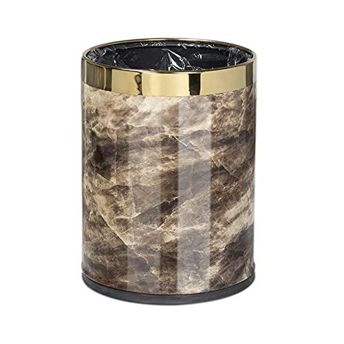 ZJH Cubo de Basura Capacidad de Basura Redonda de Doble Capa de Acero Inoxidable, 2.6/3.9 Capacidad de galón, baño para Uso doméstico Cocina de baño Bandeja de Basura para el hogar y la Cocina
