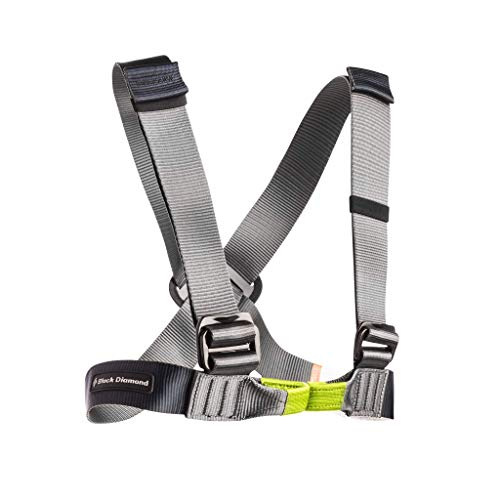 Black Diamond Vario Chest Harness Grau, Klettern, Bouldern und Slackline, Größe One Size - Farbe Gray
