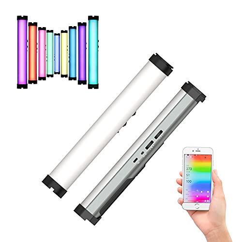 YC Onion Handheld Led Light Stick con control de aplicación, CRI98+, TLCI 98+, RGB a todo color 0-360, USB recargable, temperatura de color ajustable 3200k-6200k Varita de iluminación