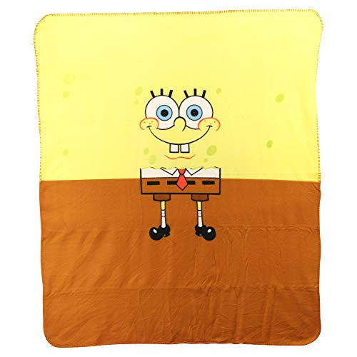 Northwest Kids Fleece Throw Blankets Several Options (Spongebob (Half & Half))