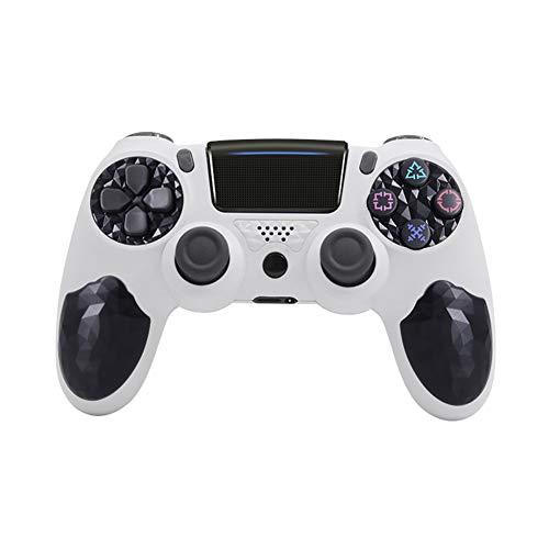 VAWA Controlador inalámbrico de Juegos: Cargador rápido Doble Bluetooth 4.0 con Pantalla LED, Controlador Gamepad para Playstation 4 / PS4 Slim/PS 4 Pro/PC-Coffee