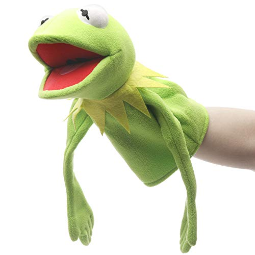 RONIAVL The Muppets Movie Soft Stuffed Plush Toy Sesame Street Cookie Monster Hand Puppet,Kemit Frog