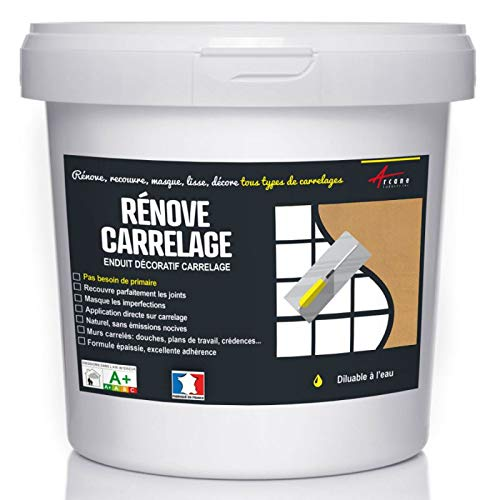 Putz für Fliesen - Fliesen verputzen - Betonbeschichtungs-Effekt - RENOVE CARRELAGE - Kupfer - Kit 10kg - 6.5m² für 2 Schichten