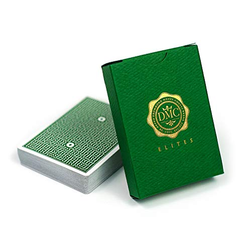 DMC Elites Magic Cards, Forest Green Magic Tricks Cards, Poker Size Premium Quality Marked Deck, Magic Card with USPCC Custom Printing, Magic Playing Cards for Perfect Magic Trick and Illusions