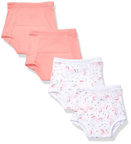 Hudson Baby Pantalones de entrenamiento unisex de algodón para bebé, unicornio coral, 2 niños pequeños