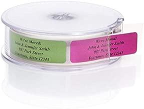 Assorted Metallic Foil Rolled Address Labels with Elegant Plastic Dispenser