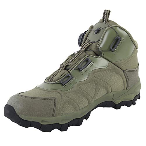 YQSHOES Botas Tacticas Botas de Seguridad Hombre Trabajo Zapatos Transpirables Ultraligeras para Militares Montaña Trekking,Verde,41EU/8US/7UK