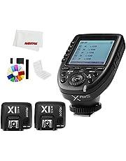 Godox Xpro-N i-TTL II 2.4G X System - Disparador remoto inalámbrico con 2 x X1R-N controlador receptor compatible para flash Nikon