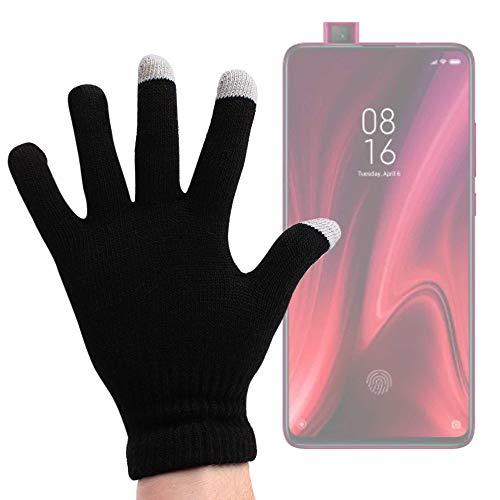 DURAGADGET Guantes Negros para Pantalla Táctil Compatible con Smartphone Redmi K20 Pro Premium, Huawei Mate 30 Pro - Talla Mediana - ¡Ideales para El Invierno!