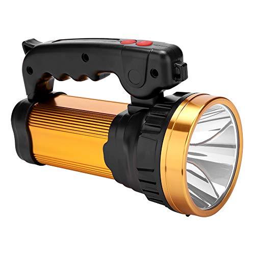 XQ-186-2 Linterna LED antorcha USB para exteriores, Luz de reflector reflector...