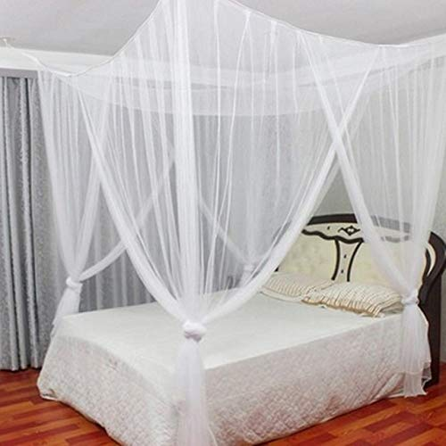 LJQLXJ Mosquitera Nets For Bed King Size Mosquito Curtain Four Sides Opening Way Oversized Home Practical Mosquito Nets,White