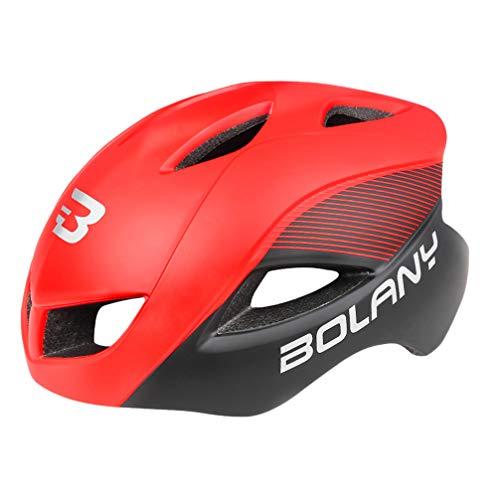 CLISPEED Erwachsener Fahrradhelm Fahrradfahrhelm Cooler Stil Radsport Kopfbedeckung Sichere Kappe Einstellbar für Männer im Freien Frauen Frauen Kopfschutz Rot