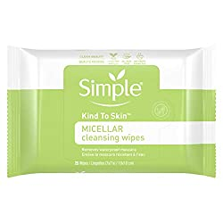 Simple Facial Wipes, Micellar, 25 ct