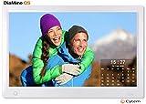 Cytem 13.3 Zoll Digitaler Bilderrahmen | 16:9 Full HD-IPS Display | Bewegungssensor | Transparente Kalender | korrekte Bilddrehung und Größenanpassung | Gemischte Diaschau | min.10.000 Fotos | Silber