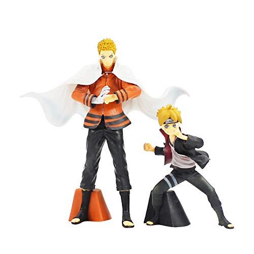 VNNY 2 unids/Set Boruto Naruto PRÓXIMAS Generaciones Uzumaki Naruto & Boruto PVC Figuras Juguetes