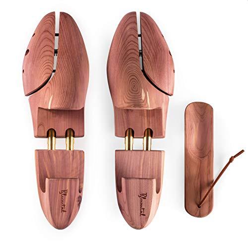 Blumtal Schuhspanner für Herren und Damen - Schuhdehner aus Zedern-Holz, mit Schuhlöffel, versch. Größen (39/40-1 pair)