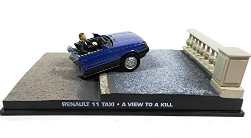 James Bond Renault 11 Taxi from Paris : 'Half Car Damaged 007 A View to a Kill 1/43 (Gift for 007 Collection subscribers DYG2)