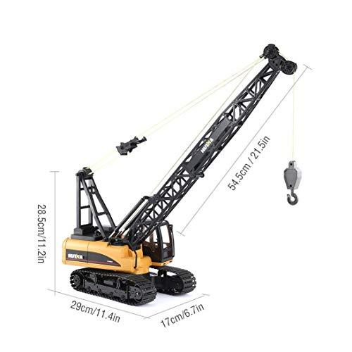 RC Auto kaufen Baufahrzeug Bild 4: s-idee® S1572 Rc Kranwagen Bagger mit Ketten Licht Sound Metallbauteile 15 Kanal 1:14 mit 2,4 GHz Kran Huina 1572*