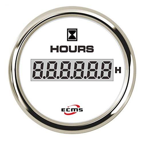 WEI-LUONG 52mm cronógrafo LCD Contador de Horas Indicador de luz de Fondo for Múltiple Auto Motocicleta for el Coche del Carro del Barco Coche