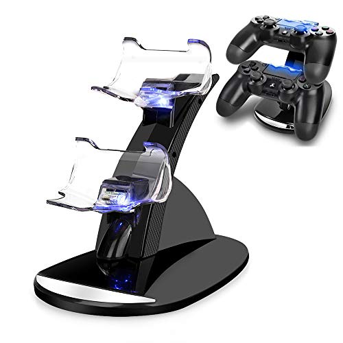 PS4-Controller-Ladegerät, Vseer Playstation 4/PS4/PS4 Pro/PS4 Slim Controller Ladestation Ladestation Stand.Dual USB Schnellladestation & LED-Anzeige für Sony PS4 Controller