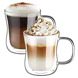 Double Wall: The double wall design keeps the cup safe to touch with hot drinks and free of condensation with cold ones. And also keeps your drinks hot or cold for longer than one layer glasses under the same conditions. Chic Appearance: Double wall ...