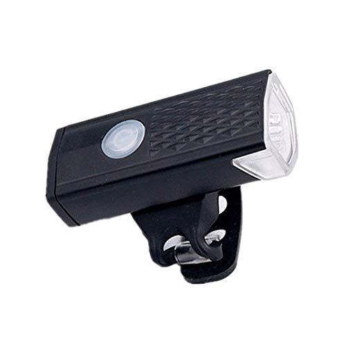 Clkdasjd - Luz delantera para bicicleta (USB, recargable, 3 modos)