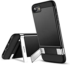 ESR Metal Kickstand Designed for iPhone SE 2020 Case,iPhone 8 Case [Vertical and Horizontal Stand] [Reinforced Drop Protection] Flexible TPU Soft Back for iPhone SE 2 New (2020)/iPhone 8(2017)- Black