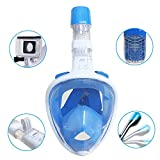 CESTLAVIE 180° Full Face Snorkel Mask- Flat Folding Full Dry Diving Mask, Panoramic