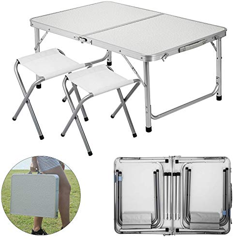 Review Happybuy Folding Picnic Table (Renewed)
