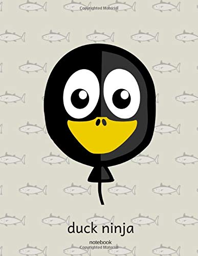 Black Duck Ninja Big Notebook For Kids: School Subject  Wide Ruled Composition Journal  For Boys And Girls