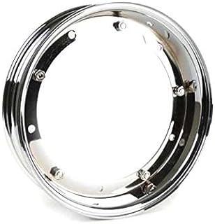 Amyove Cerchioni per Moto Cerchi in Alluminio Cerchi in Vespa PX 125 150 200 LML Star T5 Rally 10 Silver