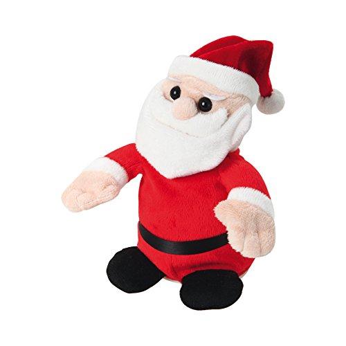 AUTOUR DE MINUIT 5AUT326 Automate Peluche Echo Père Noël à Piles, Plastique, Multicolore, 17 x 10 x 19 cm