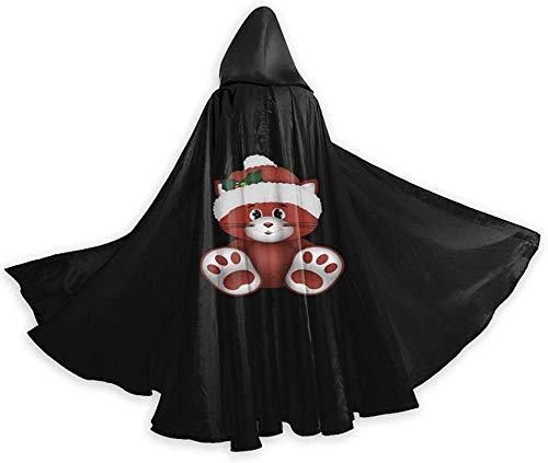 Zampa di gatto Natale Rosso Halloween Mago Strega Veste con cappuccio Mantello Felpe con cappuccio natalizie Capo Cosplay per adulti Uomini Donne Bomboniere Forniture Abiti Vestiti Regali Costume