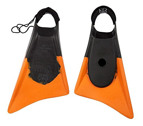 Churchill Makapuu PRO Floating Fins | Comfortable Fit Fins | Tether & Ankle Strap Included | Patented Dolphin Tail Swimfins | Made of 100% Natural Gum Rubber | Swimming, Surfing (Medium)