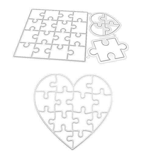 Kaikso-In - Fustelle in metallo a forma di cuore, per album di ritagli, fai da te, album di ritagli, puzzle e a forma di cuore