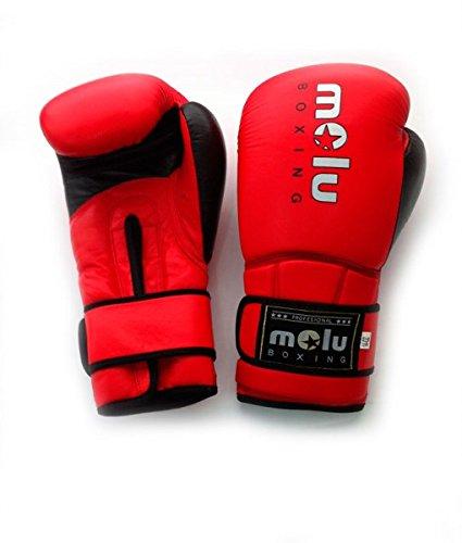 MoluBoxing - Guante Piel ultravox, 12 onzas, Color: Rojo