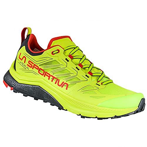 LA SPORTIVA Jackal, Zapatillas de Trail Running Hombre, Neon/Goji, 44.5 EU