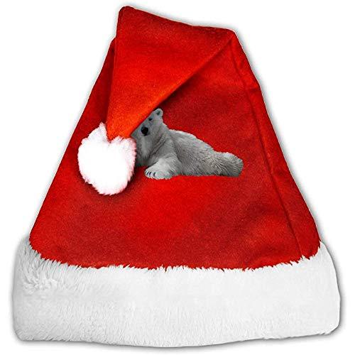 Kenice Rot Weihnachten Hüte,Weihnachtsmützen,Santa Claus Mütze,Weihnachtsmann Hut,Eisbär-Party-Dekoration,Weihnachtsmann-Kappe,Weihnachtsfeiertags-Hut S