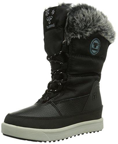 hummel Unisex-Kinder Snow Boot JR FUR LACE Schneestiefel, Schwarz (Black 2001), 33 EU