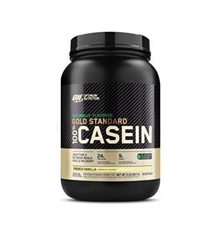 Optimum Nutrition Gold Standard 100% Micellar Casein Protein Powder, Naturally Flavored French Vanilla, 2 Pound (Packaging May Vary)