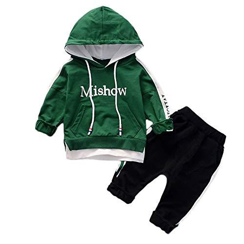 Robemon Vêtement Bébé Enfant Garçon Fille Lettre Capuche Swear-Shirt Tops + Pantalon Vêtements Ensemble Bébé Cadeaux Tenues 0.5-3Ans