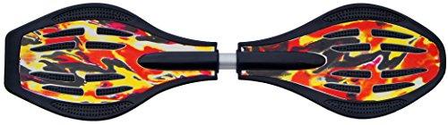 NIK FUNSPORT® Waveboard 85,5cm mit LED-Rollen ABEC-7 Lager (Flamme)