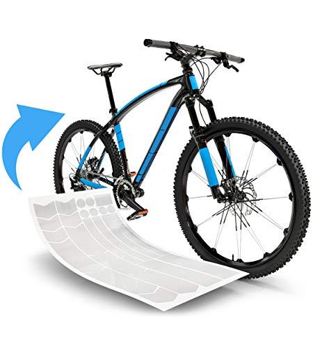 Blackshell® Fahrrad Schutzfolie hergestellt aus 3M Folie – starker Rahmenschutz für z.B. Trekkingrad, MTB, Rennrad oder E-Bike - 24-teiliges, Transparentes Steinschlagschutz-Set
