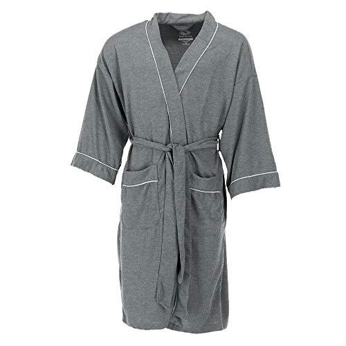Fruit of the Loom Men's Waffle Knit Robe, Grey