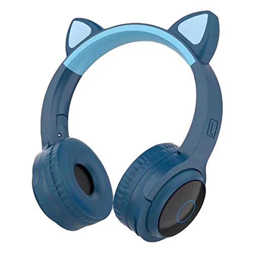 Auriculares Bluetooth 5.0, Oreja de Gato Estéreo Over-Ear Game Gaming Bass Headset, Auriculares Estéreo Supraurales Compatible con Smartphones PC Tablet