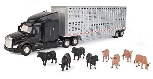 ERTL 1/32 Semi with Cattle Trailer &...