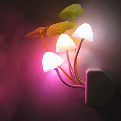 xingguang Decorativa noche luz noche luz seta lámpara novedad para bebé led bulbos emergencia enchufe derecho sensor 3 colorido