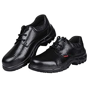Karam ISI marked men's deluxe workman safety shoeblack, FS05BL