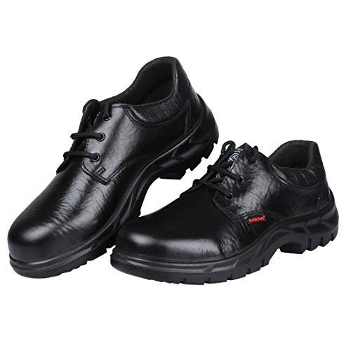 Karam Black Leather Safety Shoes FS-05 - Size 8